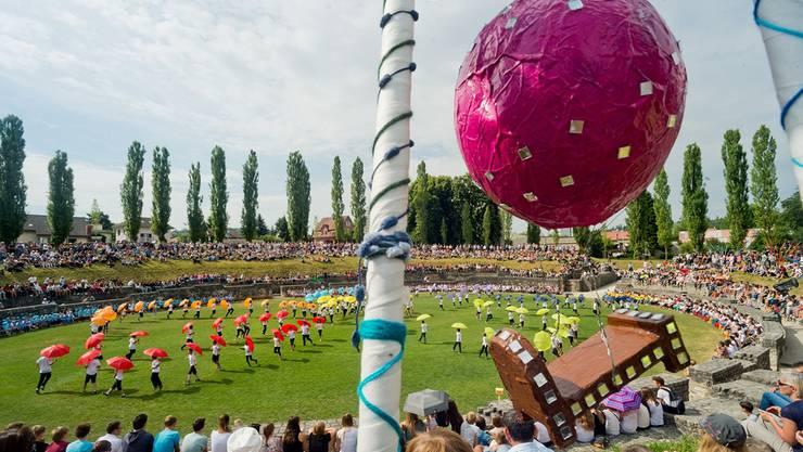 Das Motto des Jugendfests in Windisch lautete «Uf und devoo» – einer der Höhepunkte war die Morgenfeier.