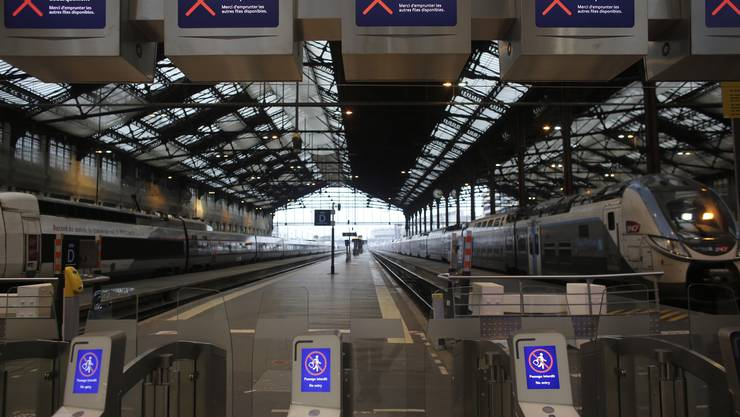 Am Gare de Lyon in Paris herrscht am Freitag tote Hose.
