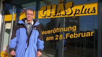 Käse und weitere Produkte verkauft Thomas Thommen in seinem neuen Geschäft.