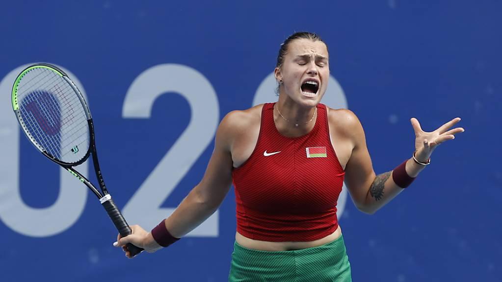 Kein guter Tag: Aryna Sabalenka scheiterte in der 2. Runde knapp.