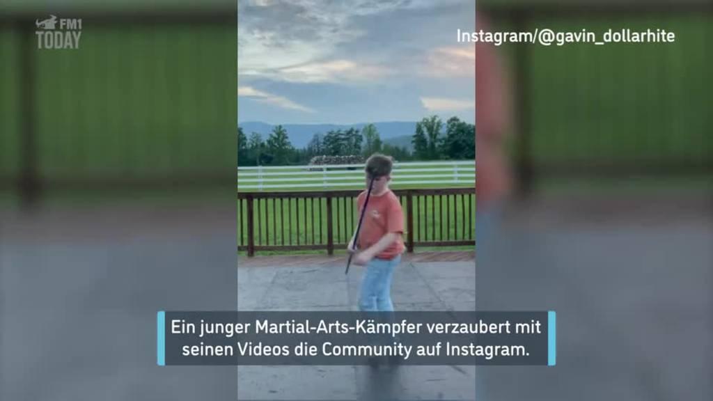 Junger Martial-Arts-Kämpfer wird zum Online-Hit