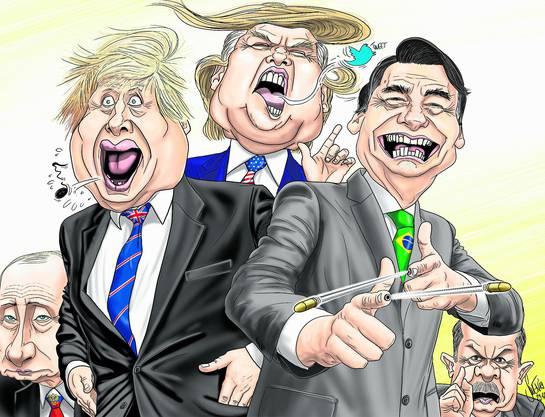 Boris Johnson, Donald Trump, Jair Bolsonaro und Recep Tayyip Erdogan sind alles Populisten – und das mit Erfolg.
