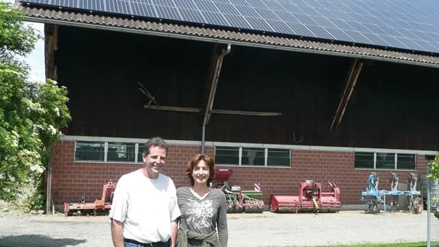 Doris und Robert Haas: «Es ist ein gutes Gefühl, umweltfreundlichen Naturstrom zu produzieren.»