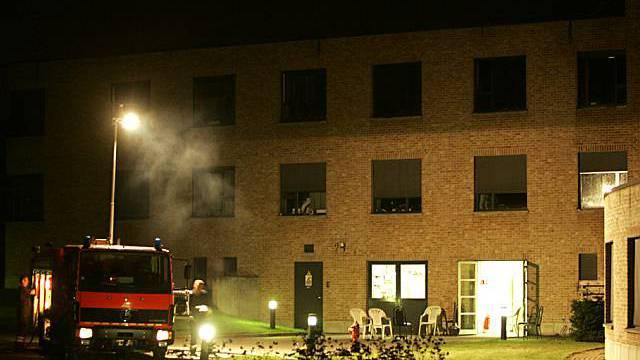 Das Feuer brach im zweiten Stock aus