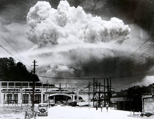 Nagasaki, 9. August 1945: Der gewaltige Pilz der US-Atombombe «Fat Man». Sechs Tage später kapitulierte Japan.