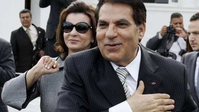 Können nicht mehr auf ihre Schweizer Konten zugreifen: der Tunesische Ex-Diktator Ben Ali und seine Ehefrau (Archiv)