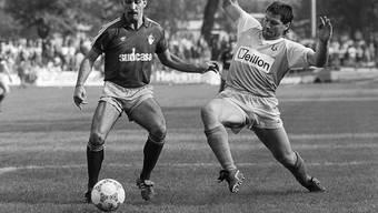 Der Brasilianer Mario Sergio (links) spielte in der Saison 1986/1987 für die AC Bellinzona in der Nationalliga A