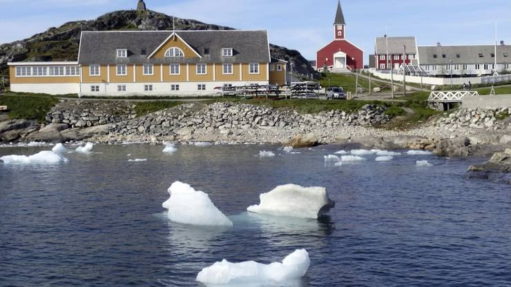 Nuuk. Die Hauptstadt von Grönland.