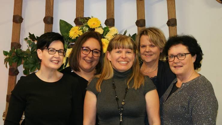 vl. Manuela Rechsteiner, Susanne Zwahlen, Sandra Higgins, Renate Wunderl