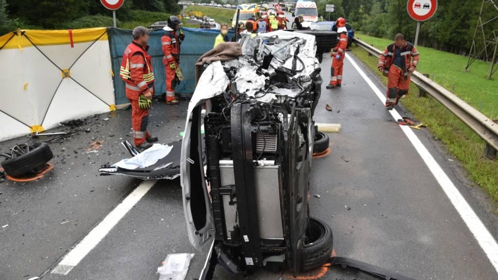 Schiers GR: Sechs Verletzte bei Kollision von vier Autos