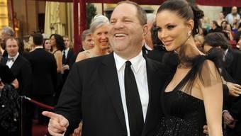 Da lächelte Weinstein noch: Der Hollywood-Produzent Harvey Weinstein und seine Frau bei der Oscar-Verleihung 2010.