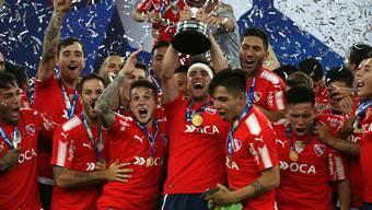 Der argentinische Verein Independiente feiert den Sieg in der Copa Sudamericana
