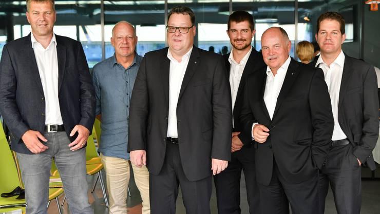 Es fehlen: Roger Rettenmund, Fabian Aebi, Max Feuz und Marius Studer.