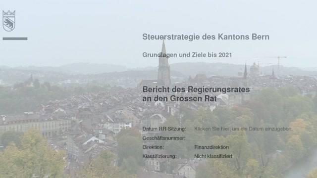 Zu hohe Steuern im Kanton Bern