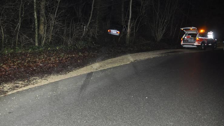 In einem Waldstück hat der Mann in einer Rechtskurve die Kontrolle über sein Fahrzeug verloren.