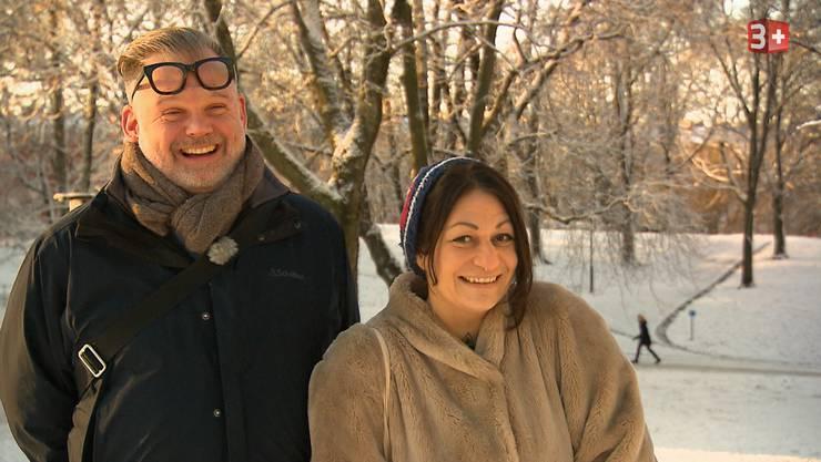 Galaxya Sanchez ist am Montagabend in der Sendung «Adieu Heimat» auf 3+ zu sehen (ab 20.15 Uhr). Im Bild mit Freund Ralph in Stockholm.