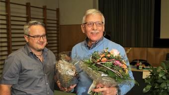Erntet grossen Applaus: Gemeindeammann Fredy Gut nach seiner letzten Gmeind. Peter Weingartner