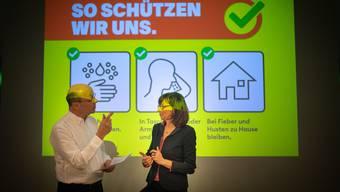 Medienkonferenz zum Corona-Virus am Freitag in St.Gallen.