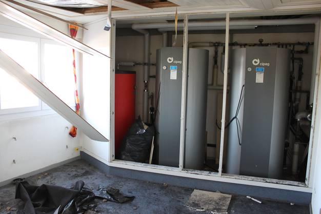 Der neue Boilerraum wurde verschont