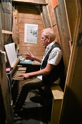 Hubert Schäpper spielt das Aarauer Carillon seit er 16 Jahre alt ist.