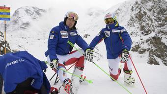 Routinier Carlo Janka (links) und Youngster Gino Caviezel sind gerüstet für den Saisonstart