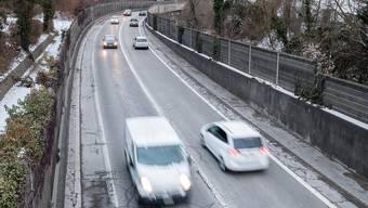 Die marode Umfahrung von Liestal der A22 ginge bei einem Ja am 12.Februar zum NAF an den Bund. Dieser müsste dann die teure Sanierung bezahlen.