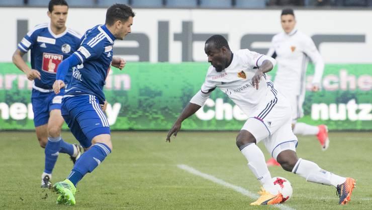 Seydou Doumbia bringt den FCB schon in der dritten Minute in Führung.