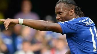 Didier Drogba gab bei Chelsea sein Heim-Debüt