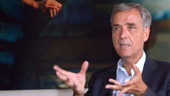 Entspannt und mit etwas Wehmut nimmt der Basler Regierungspräsident Guy Morin nach zwölf Jahren Exekutivtätigkeit Abschied – ohne Krawatte.