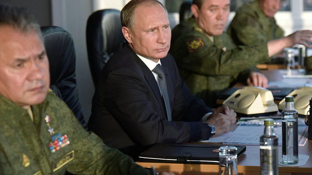 Keine Feldoperation in Syrien: Russlands Präsident Wladimir Putin (Archivbild)