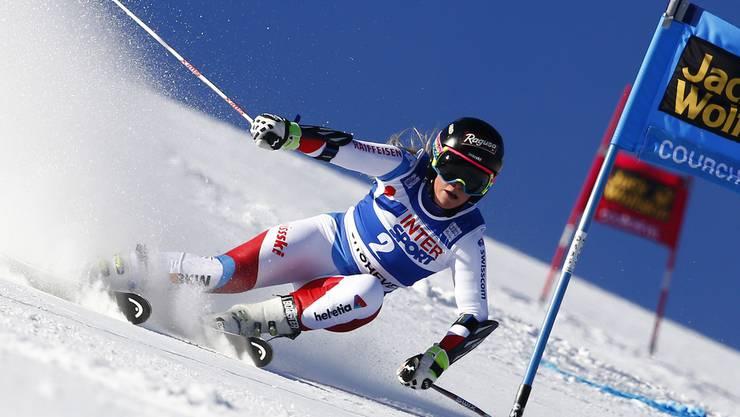 Lara Gut holt sich den zweiten Platz und damit auch die Gesamtweltcup-Führung.