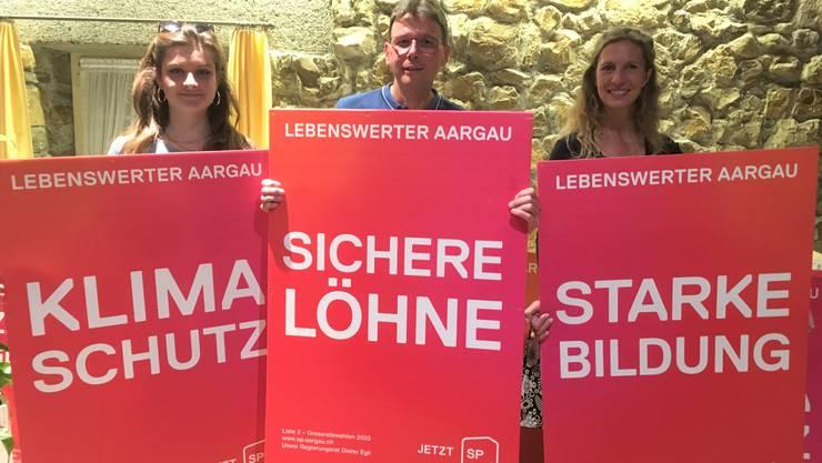 Mia Jenni, Dieter Egli und Carol Demarmels (v.l.)