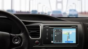 So sieht das Bord-System Carplay von Apple aus.