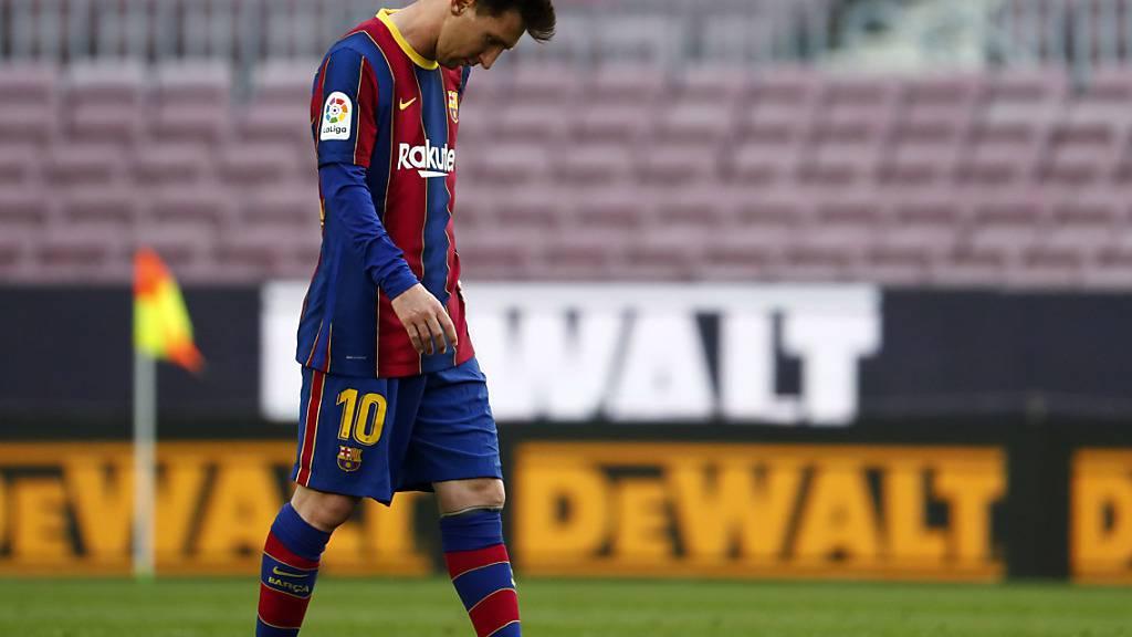 Nächste Titelchance futsch: Barcelonas Lionel Messi verlässt den Platz mit hängendem Kopf