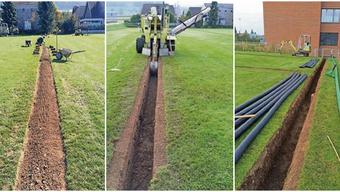 Zusätzliche Drainagen sollen dafür sorgen, dass das Wasser auf dem Sportplatz Ländli 2 besser abfliessen kann.