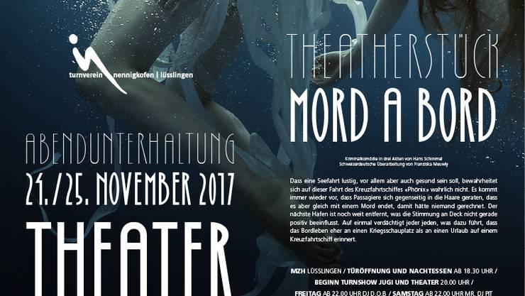 Dieses Jahr wieder mit einem tollen Theater «Mord a Bord» !