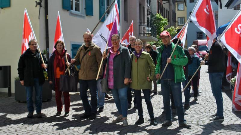 Die 1. Mai-Feier trifft in der Rheinfelder Altstadt auf den Gewerbe-Anlass «Frühlingserwachen»