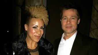 Petra Sprecher mit Brad Pitt: «Er ist sehr fokussiert und steht nicht auf dem Set zum Plaudern herum.»
