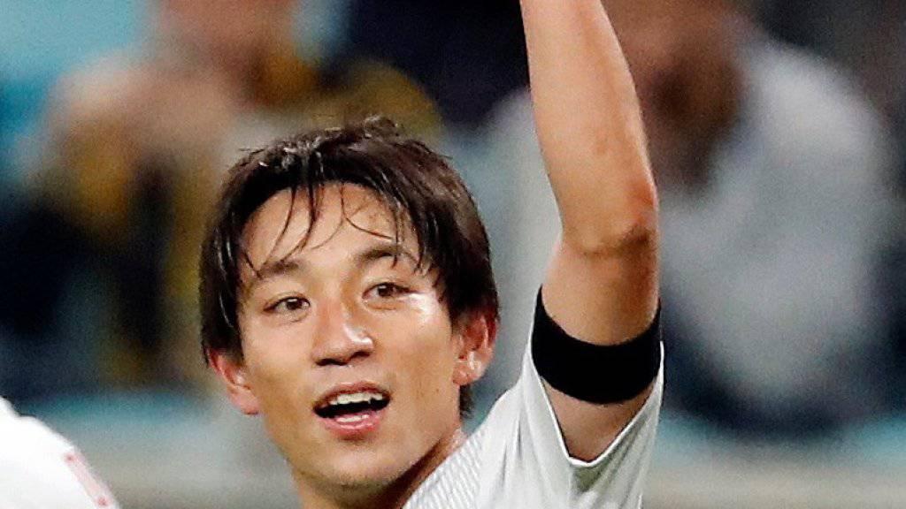 Der Japaner Koji Miyoshi traf gegen Uruguay doppelt