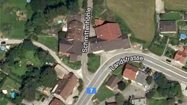 Die Ein- und Ausfahrt Landstrasse-Schmittenhöhle in Möhlin ist wegen umfangreicher Bauarbeiten ab 19. Februar gesperrt. Google Maps