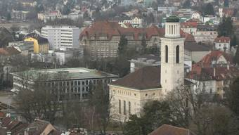Stadt Solothurn - Blick auf die reformierte Kirche