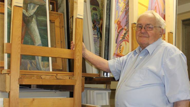 Toni Brechbühl arbeitet noch regelmässig im von ihm mitbegründeten Künstlerarchiv Grenchen an der Wiesenstrasse.