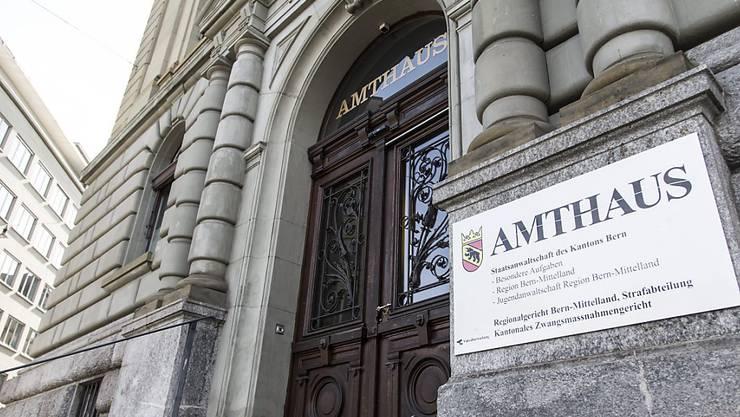 Im Berner Amthaus, Sitz des kantonalen Zwangsmassnahmengerichts, fiel der Entscheid, Sonkos Untersuchungshaft zu verlängern. (Archivbild)