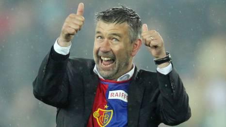 Endlich Meister: FCB-Trainer Urs Fischer ist sichtlich begeistert. Foto: Giuseppe Esposito/EQ Images
