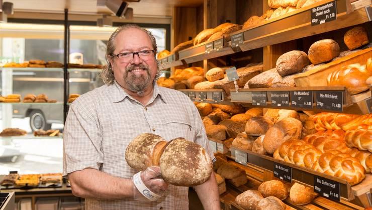Bäcker Marco Monaco-Oesch setzt auf Bio-Rohstoffe.