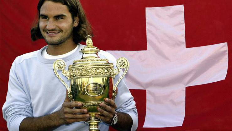 2003 besiegt Roger Federer den Australier Mark Philippoussis Australia mit 7-6, 6-2 and 7-6