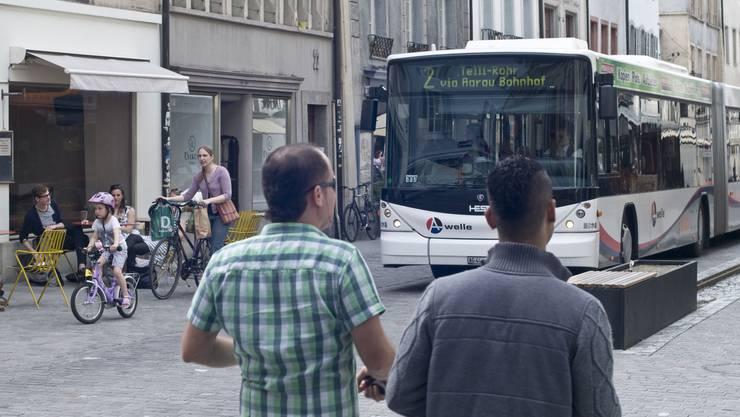 Der Bus der Linie 2 fährt probeweise häufiger zwischen Bahnhof und Telli/Rohr
