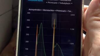 Die Messdaten des MS2field können die Forschenden nahezu in Echtzeit auf ihrem Smartphone abrufen.