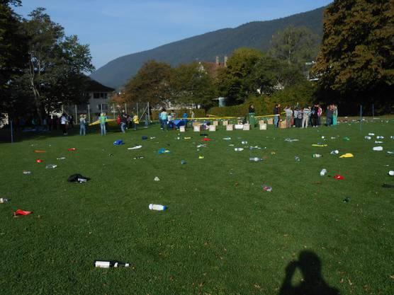 Übung im Abfalltrennen