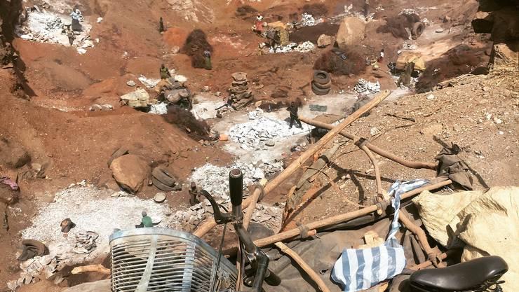 Steinbruch in Ouagadougou